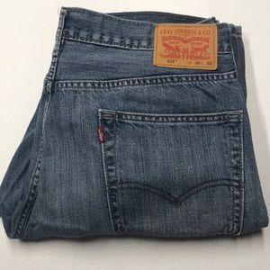 LEVI's 514 Mens 36 x 32 Blue Jeans